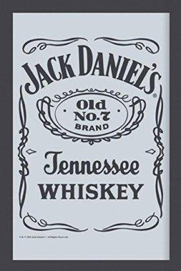 Jack Daniel's BarSpiegel Bar Whisky Wandspiegel Label - Bedruckter Spiegel Bar-Dekoration