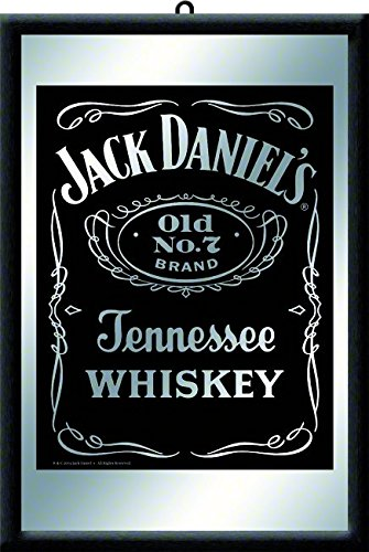 Jack Daniels Black Whisky Barspiegel Wandspiegel Bar Spiegel Dekoration Wandbild 20x30 cm