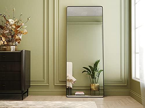 Kare Design Spiegel schwarzer moderner Wandspiegel edler Badspiegel großer rechteckiger Schminkspiegel eleganter Spiegel (H/B/T) 200x80x5cm