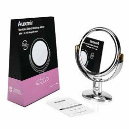 Kosmetikspiegel Makeup Spiegel mit Vergrößerung Doppelseitig Schwenkbar Tischspiegel für Schminken Rasieren Gesichtspflege