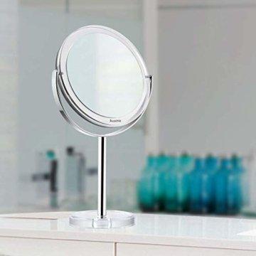 Kosmetikspiegel Makeup Spiegel Tischspiegel mit Vergrößerung, Doppelseitig Schwenkbar für Schminken Rasieren Gesichtspflege