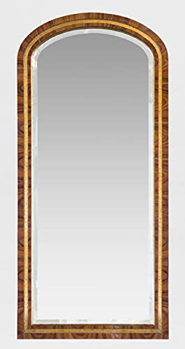 Luxus Barock Spiegel Golder Brauner Antik Edler Massivholz Wandspiegel im Barockstil 60 x 3 x H. 135 cm Barock Möbel Casa Padrino