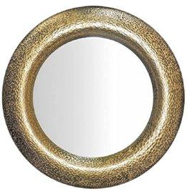 Luxus Spiegel Gold Ø 120 cm Runder Glasfaser Wandspiegel Wohnzimmer Spiegel GarderobenSpiegel Luxus Kollektion