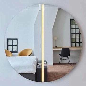 Luxus Spiegel Ø 150 cm - Runder Wandspiegel mit LED Streifen - Wohnzimmer Hotel Restaurant Boutique Spiegel
