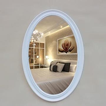 Luxus Wandspiegel HD Spiegel Ellipse Rahmen Retro Spiegel für Hotel, Wohnzimmer, Badezimmer, Fotostudio, Toilette, Schönheitssalon, Schminktisch