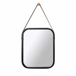 Luxus Wandspiegel, Rechteck Bambus gerahmt Flur Badezimmer Eingangsspiegel Bad  40.5 * 33CM
