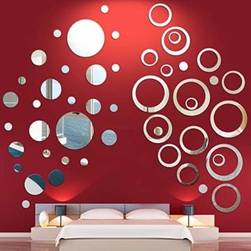 Runde Kreis Spiegel Wand Aufkleber 24 Stück Circle Mirror Wall Stickers Runde Punkte Spiegel Wandtattoos Modern Art
