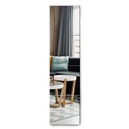 Spiegel 4 Stücke 30x30cm aus Glas DIY Wandspiegel mit 4 Klebe Mat HD Spiegelfliesen Set in Küche, Wohn- und Badezimmer