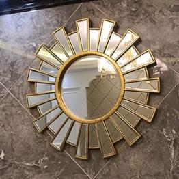 Spiegel Gold Silber Design Restaurant Kaminspiegel runder Glasspiegel Badezimmerspiegel Wandspiegel Luxus-Wandspiegel