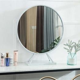 Wandspiegel Badspiegel Badezimmerspiegel, Make-up Spiegel mit Sockel, Kosmetikspiegel, Rasierspiegel, Luxus Gold runden Spiegel, Schlafzimmer Dekoration (40CM, 50CM, 60CM)