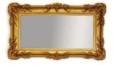 WANDSPIEGEL Goldener BAROCKSPIEGEL Spiegel ANTIK BAROCK Rokoko Shabby CHIC Renaissance JUGENDSTIL Retro Design 96x57