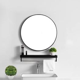 Wandspiegel Rund Spiegel Schwarz 45cm Flurspiegel Badezimmerspiegel Wohnzimmerspiegel Kaminspiegel
