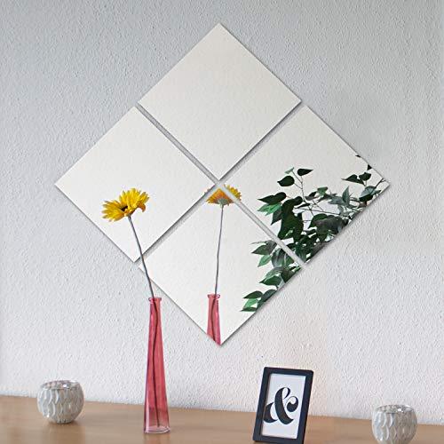 4 Stück Spiegelfliesen je 30x30cm Spiegelkachel Fliesenspiegel Spiegel Wanddekoration Wandspiegel Klebespiegel