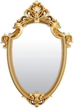Goldener Wandspiegel Antik Spiegel Schildform 40 x 28 cm (Gold) Dekoration