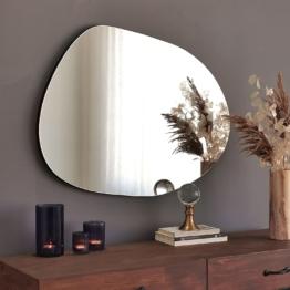 Moderner Industrial Design Spiegel Maße 2,2 x 55 x 75 cm – Asymmetrischer Spiegel ideal als Dekorationsobjekt…