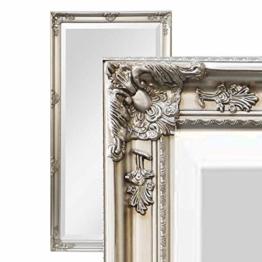 Antiker Wandspiegel Barock Holz Rahmen Spiegel Luxuriös edel  200 x 100 (Silber)
