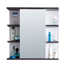 Badezimmer Spiegelschrank Spiegel 60 x 60 x 20 cm in Weiß Silber mit viel Stauraum und offenem Fächern