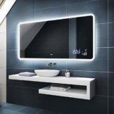 Badspiegel mit LED Beleuchtung -  Individuell Nach Maß 100x60cm - Beleuchtet Wandspiegel Lichtspiegel Badezimmerspiegel - LED Farbe