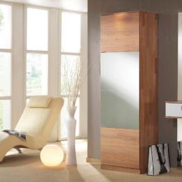 Dielenkleiderschrank Flurschrank mit Spiegel Kernbuche Massivholz Holz Spiegelschrank Schlafzimmer Flur Diele