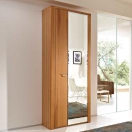 Dielenschrank mit Spiegeltür Kernbuche lackiert Spiegelschrank Garderobenschrank naturholz Buche