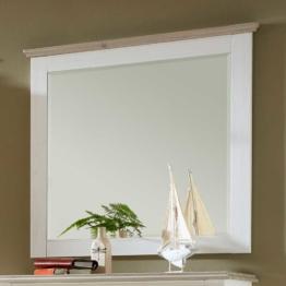 Garderobenspiegel Flurspiegel in Weiß Taupe 90 cm breit skandinavisches Design mit Holzrahmen
