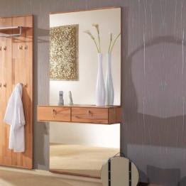 Garderobenspiegel Flurspiegel mit Ablage Kernbuche Holz Massivholz großer Spiegel modernes exklusives Design