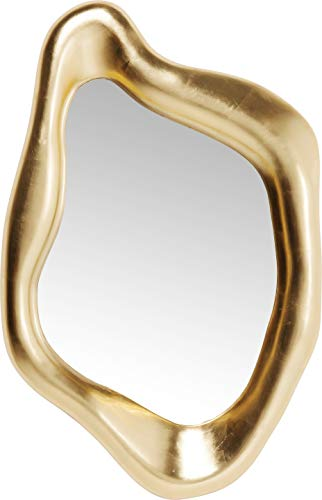 Goldener Design edeler Luxus Spiegel Hologram 119x76cm mit goldenem Rahmen in besonderer Form