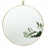 Runder Spiegel mit Gold Metallrahmen 60 x 60 cm - Dekorativer Wandspiegel für Flur, Wohnzimmer, Schlafzimmer, Badezimmer zum Aufhängen Modernes Design