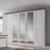 Schlafzimmerschrank Kleiderschrank im Landhausstil Weiß abschließbar große Spiegeltüren massiv Landhaus