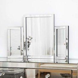 Schminktisch Spiegel Dreifach freistehende Tisch Schminkspiegel für Schlafzimmer Schminkraum 78 x 54 cm
