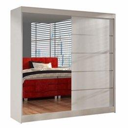 Schwebetürenschrank mit Spiegel Kleiderschrank, Schiebetürenschrank, Schlafzimmerschrank, Schiebetüren, 200x215x58 cm