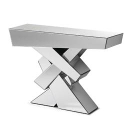 Spiegel Design Flur Konsolentisch aus Kristall Spiegelglas modern Spiegeltisch Designtisch Lounge Dekor Art