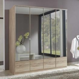 Spiegel-Kleiderschrank in Eiche Sägerau Spiegeltüren Spiegelschrank Schlafzimmer