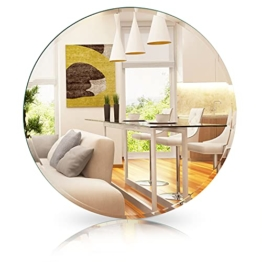 Spiegel Rund ohne Rahmen ø 50 cm mit Edlen Facettenschliff - Runder Wandspiegel für Ihr Gemütliches Zuhause