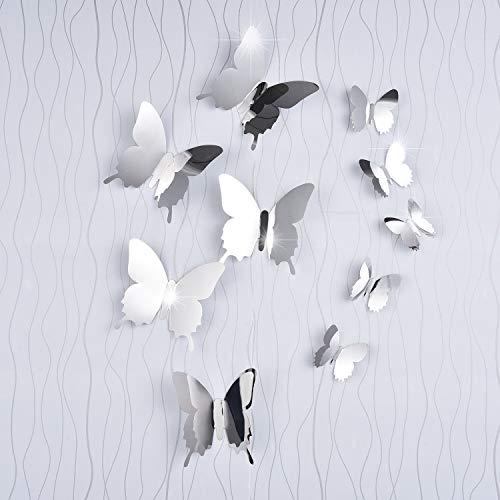 Spiegel Schmetterling Kombination 3D Spiegel Wandaufkleber Wanddeko Wandsticker Haus Dekoration