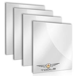 Spiegelfliesen selbstklebend 20x20cm 4 Stück Kristall Dekorative Wandspiegel Spiegelkacheln Fliesenspiegel Spiegel zum Kleben