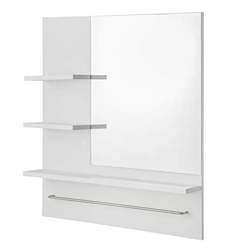 Spiegelschrank Badezimmerspiegel Hängeschrank Badezimmer Wandschrank Badschrank mit 3 Ablagen 60x13x70cm Weiß