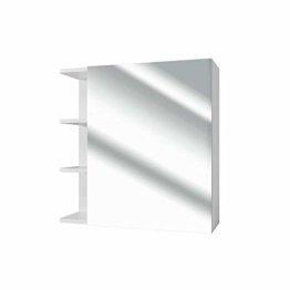 Spiegelschrank Badschrank mit viel Stauraum Ablage Regal schlicht modern Bad 62 cm Weiß - Spiegel Hängespiegel Badspiegel