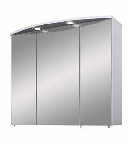 Spiegelschrank Badschrank Spiegel Badspiegel Modern mit Ablage Türen LED Licht Breite 70 cm