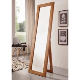 Standspiegel aus Wildeiche Massivholz klappbar Ankleidespiegel natur Holzrahmen groß Ankleidezimmer