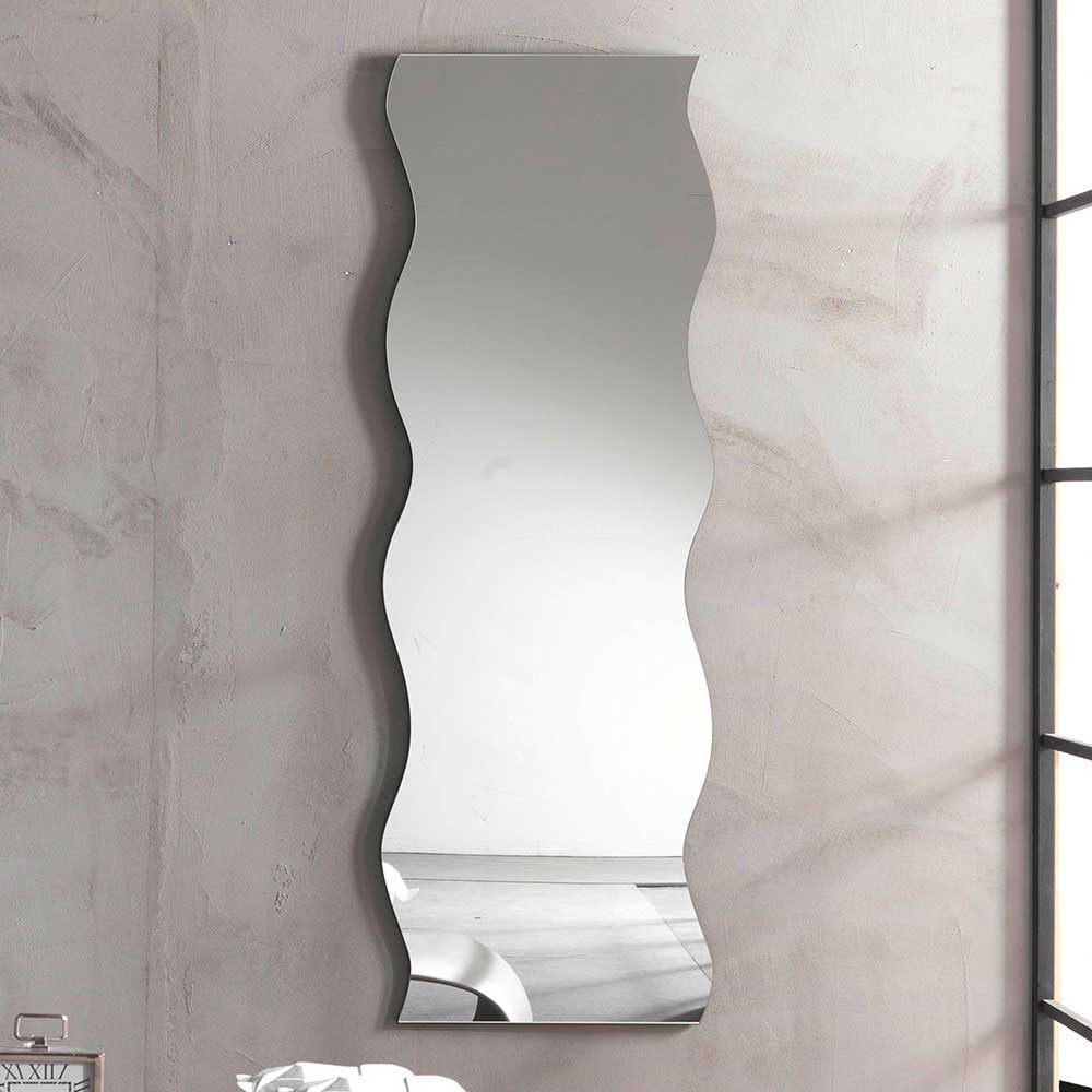 Wandspiegel in Wellenform 50 cm breit Wellen Spiegel große für Flur, Wohnzimmer, Schlafzimmer Dekoration